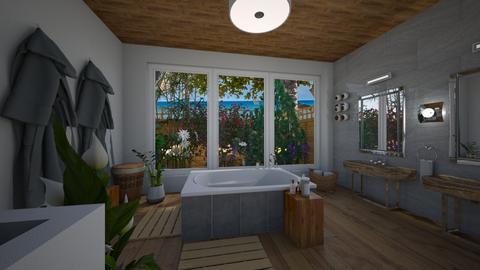 Bird Bath - Bathroom - by Daisy de Arias