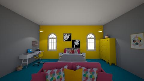 Gym Room - Bedroom - by QueenieMercury