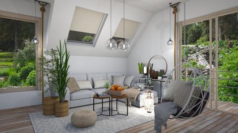 Rustic Bohemian  - Living room - by JarkaK