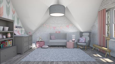 pink nursery - Kids room - by miadesign