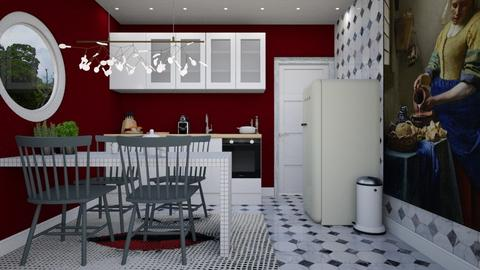 Tiny Modern Kitchen - Modern - Kitchen - by HenkRetro1960