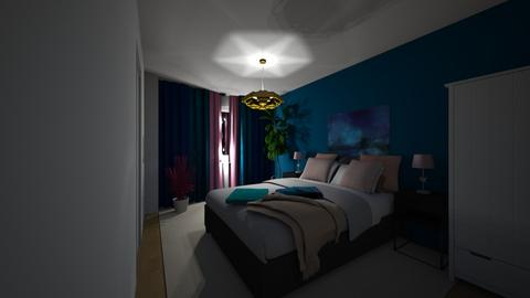 Testing blue - Bedroom - by Victoria Gustafsson