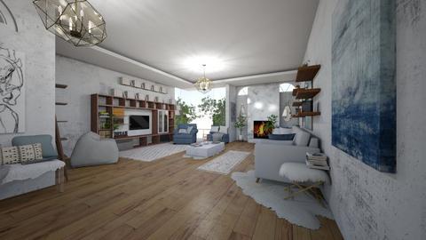 calm  - Living room - by anekyen