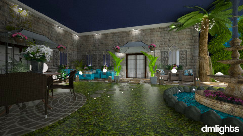 Villa - Rustic - Garden - by Lackew