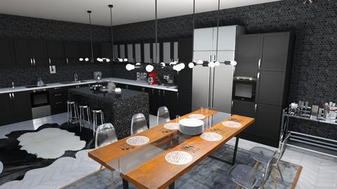 black - Kitchen - by ccassidyyevvanns