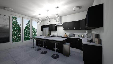 Black Contemporary  - Kitchen - by Sunshine Girl