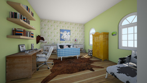 farm room - Bedroom - by saarahtalha
