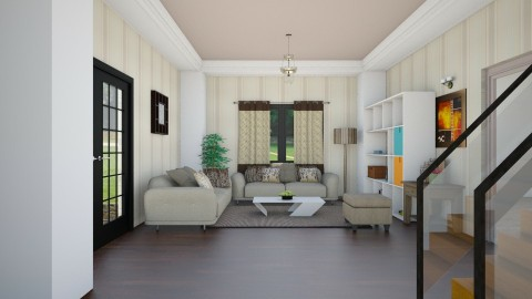 Living Room l Mocha - Modern - Living room - by Jhiinyat