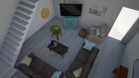 Turquoise and Green 2 - Living room - by HistoryGeek07