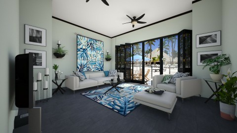 Palm leaf Motif - Living room - by Lackew