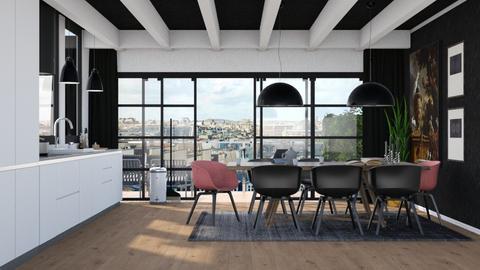 Paris Loft dinig room - Modern - Dining room - by HenkRetro1960