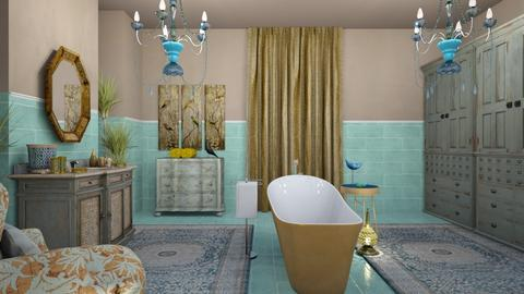 Gold bird - Bathroom - by chania