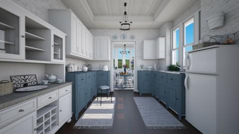 Country Morning - Kitchen - by Violetta V
