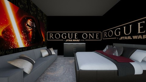 Star Wars Rogue One - Bedroom - by superbas2