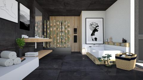 dark bath - Bathroom - by miadesign