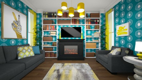 Yellow Details - Modern - Living room - by hollyhough549