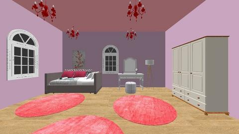 Princess Room - Glamour - Bedroom - by ljthompson01