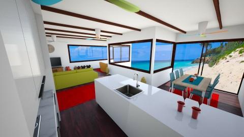 Brazilian Beach House - Living room - by Yasmin Yusuf