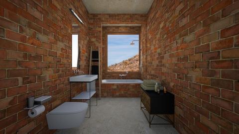 Minimalist BathroomDesert - Bathroom - by heyfeyt
