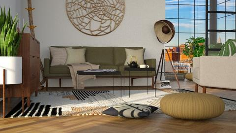urban jungle living - Living room - by miadesign