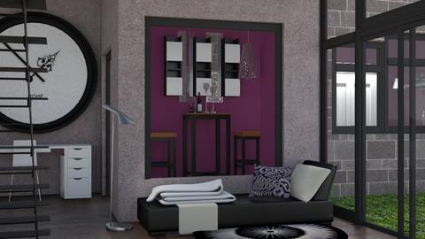 Stylish Purple - Modern - Living room - by Jessica Fox
