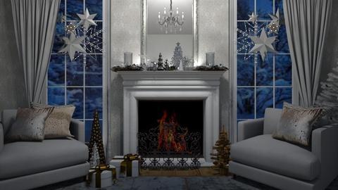 Starry Christmas - Living room - by rickglassinteriors