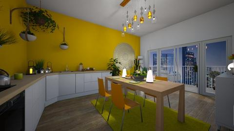 Yellow kitchen  - Modern - Kitchen - by Denisa250