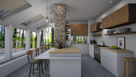 Woods House Kitchen - Kitchen - by LizyD