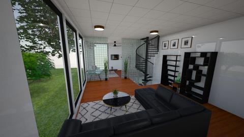 Wood glass - Minimal - Living room - by rcrites457