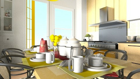 Kitchen 2 render - Country - Kitchen - by pachecosilv