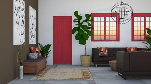 Chocolate n Red Entry - Modern - Living room - by millerfam