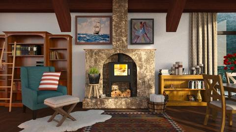 Fireplace - Living room - by Inna_Inas
