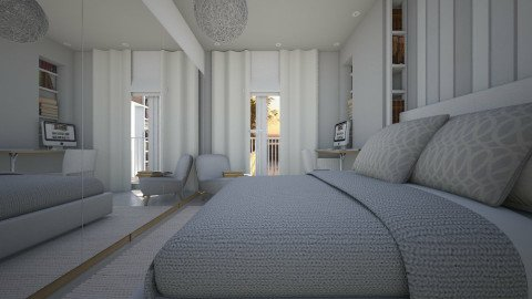 fresh and modern bedroom - Bedroom - by annasig