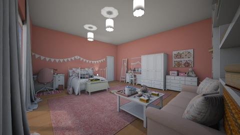girl bedroom 3  - Bedroom - by eboni archila