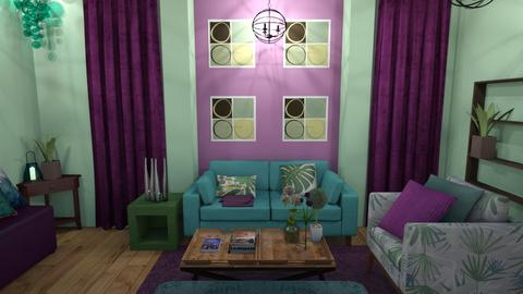 Green Blue Purple - Eclectic - Living room - by XiraFizade
