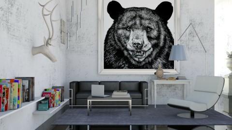 Bear - Living room - by tharinrat