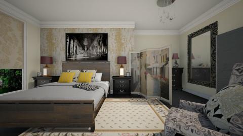 Vintage Prints - Vintage - Bedroom - by janip