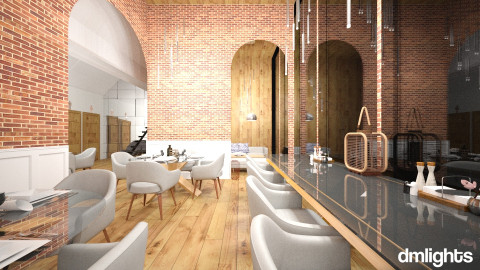 Bistro_ - Modern - Dining room - by DMLights-user-990883