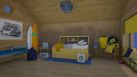 Matilda's surf culture design style bedroom - Bedroom - by Matilda de Dappere