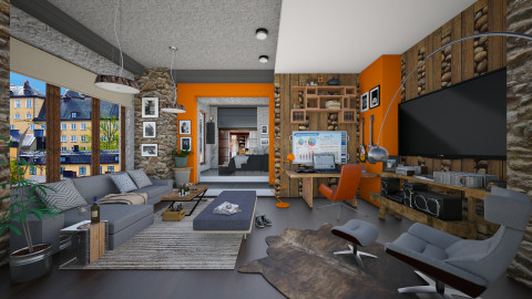 bachelor pad - Eclectic - Living room - by Ida Dzanovic