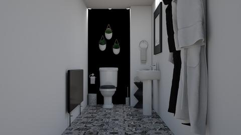 Black  White  - Bathroom - by creato