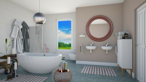 Natural White - Minimal - Bathroom - by Tooley