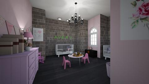 Twin Girls Pink Nursery - Kids room - by ellarowe224