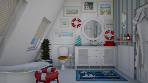 nautical little room - Modern - Bathroom - by donella