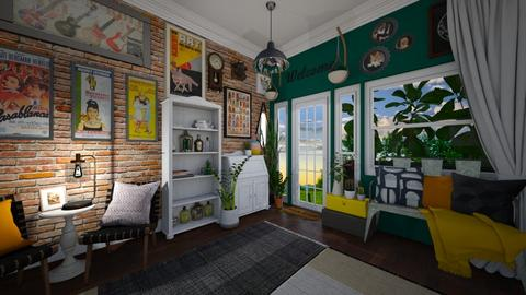 Bright Entryway  - Living room - by Jodie Scalf
