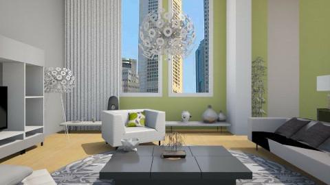 One Bed City Apt remix - Minimal - Living room - by rachelmarieknepp