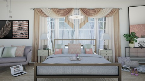M_Rose gold - Modern - Bedroom - by milyca8