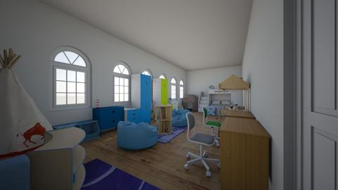 Twin Boys Bedroom - Modern - Kids room - by Flamingprincess
