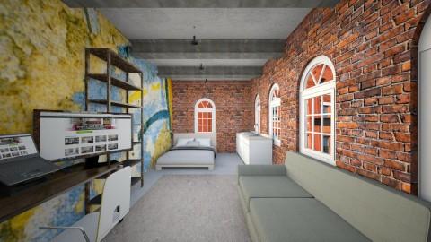 Studio Apartment 1 - Retro - Bedroom - by eliJ