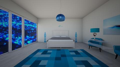 Blue - Bedroom - by lokneszikolbasz